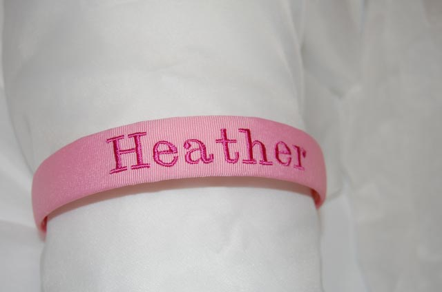Monogrammed Headband - full name