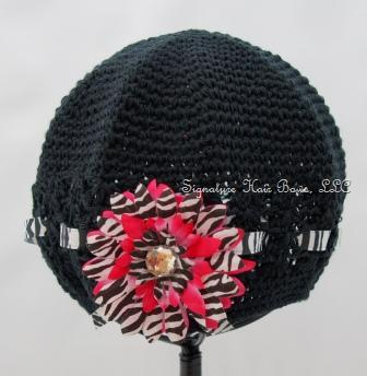 Signature Cap - Black and Pink Zebra