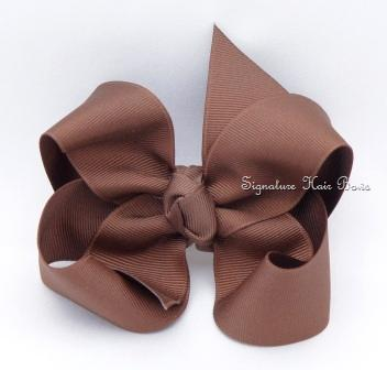 brown hair bow