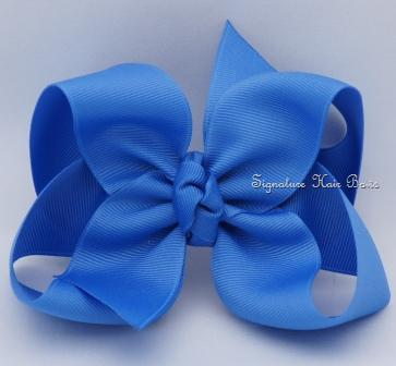 denim blue hair bow