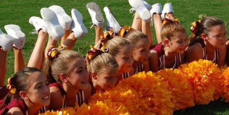 cheer team bows