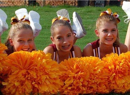 Cheer team hair bows