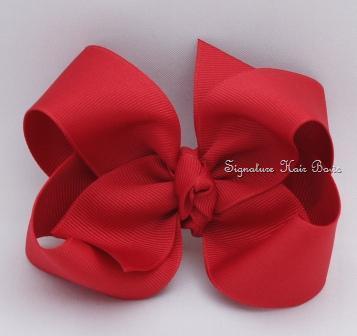 cranberry hair bow