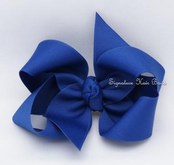 dark royal hair bow