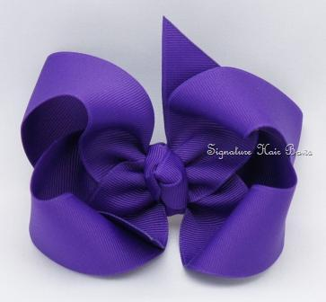 deep purple hair bow