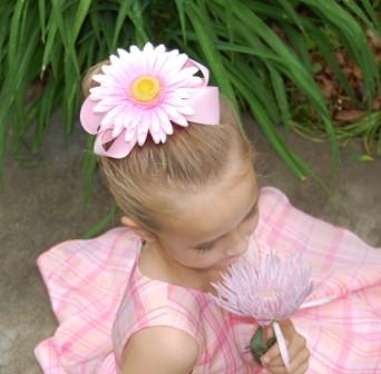 flower hair bow