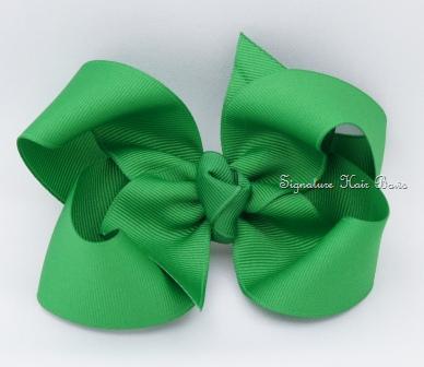 emerald hair bow