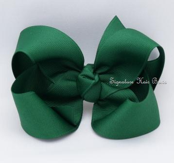 forest green hair bow