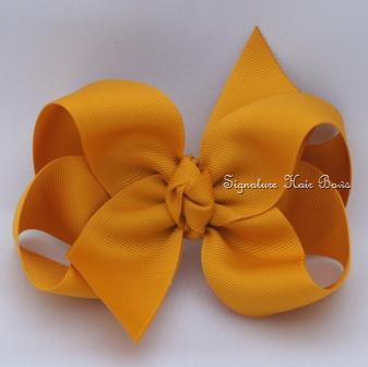 gold hair bow