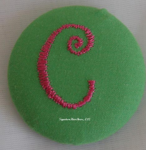 Button Ponytail - Lime Green