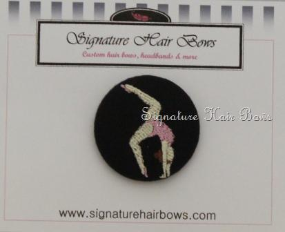 Gymnast  Button Ponytail Holder
