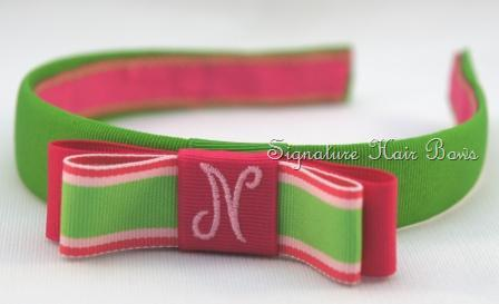 Headbands with Monogrammed Bows