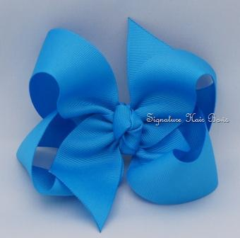 island blue hair bow