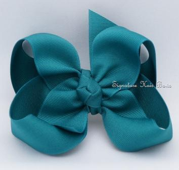 jade green hair bow
