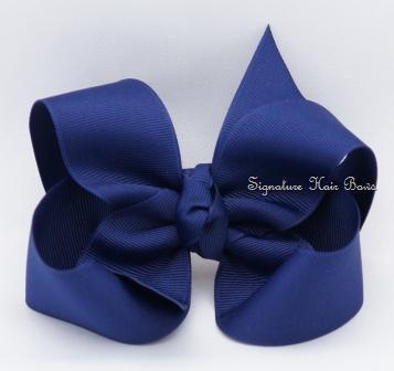 light navy hair bow