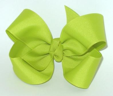 lime hair bow