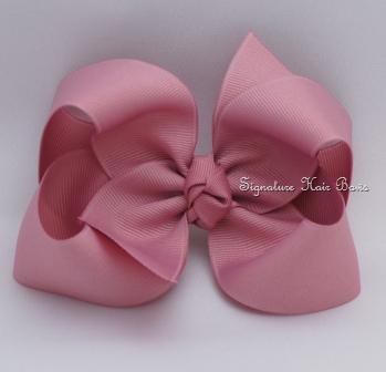 mauve hair bow