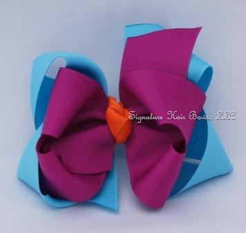Mermaid Collection Double Layer Girls Bow