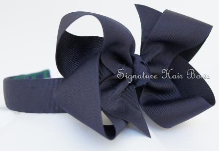 School Uniform Headband - Navy