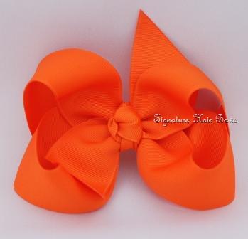 orange hair bow