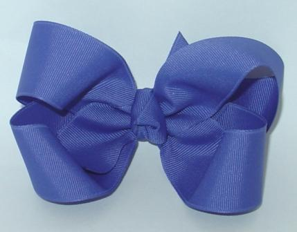 pansy hair bow