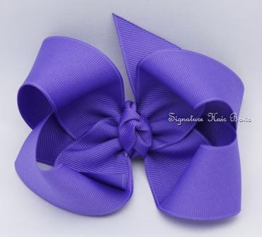 periwinkle hair bow