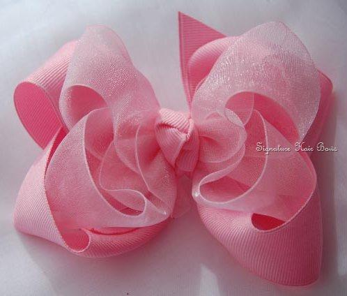 Sheer Signature Hair Bow