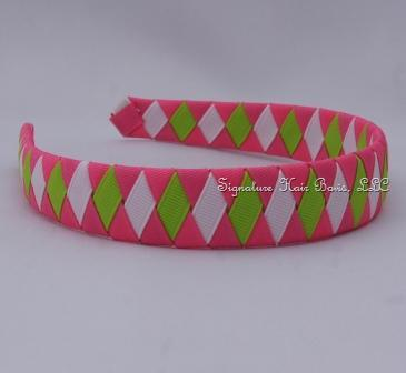 Pink Lemonade Diamonds Woven Headband