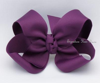 plumberry hair bow