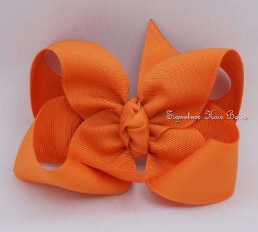 pumpkin pie hair bow