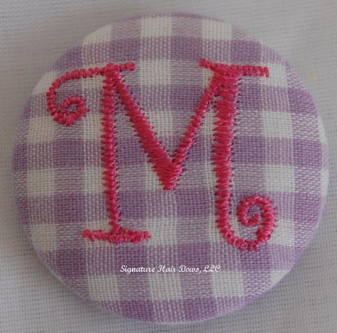 Button Ponytail - Purple Gingham