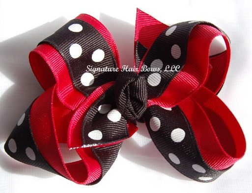 Ladybug Layered Signature Bow
