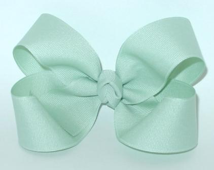 sage hair bow