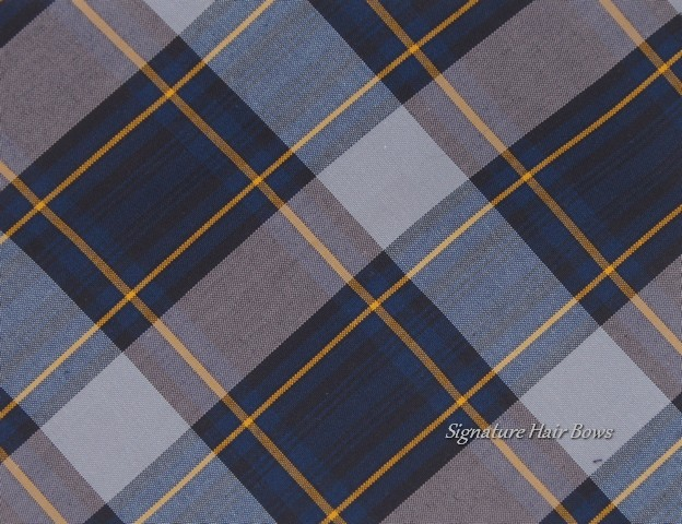 classic navy plaid for bows