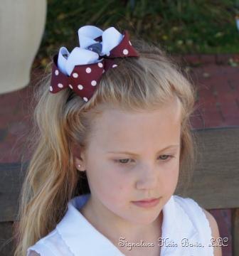school plaid hair bow