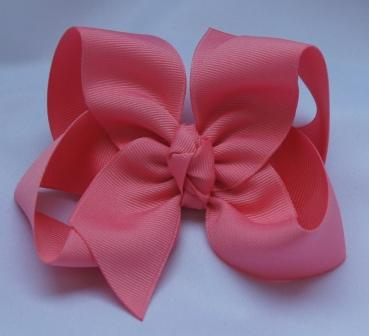 shell pink hair bow