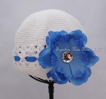 Signature Cap - White and Blue