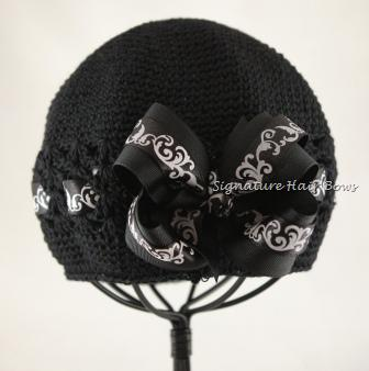 Black Swirls Signature Cap