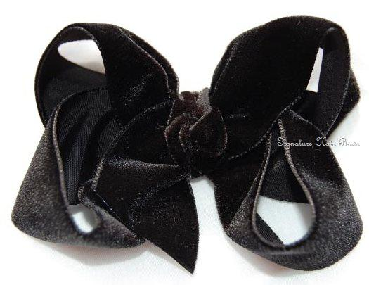 Velvet  Signature Hair Bow