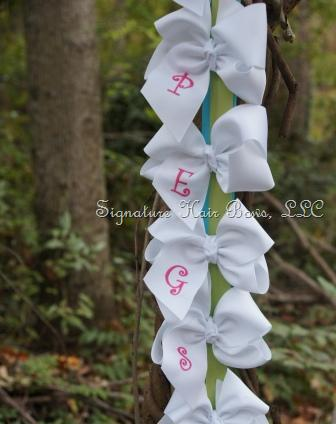 southern size monogrammed hair bows
