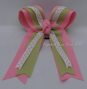 Horse Show Basic Bow - Pink Lemonade