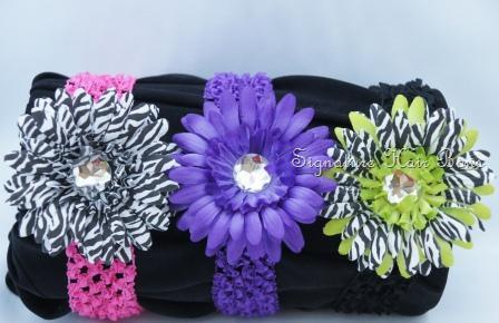Crochet Headband with Bling Daisy