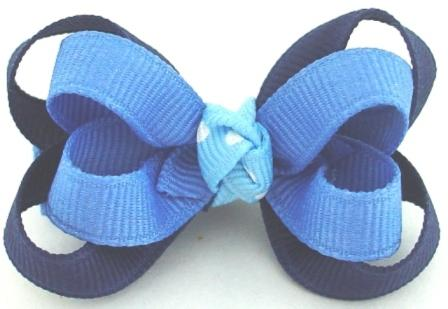 Blues Layered Baby Grippy Hair Bow