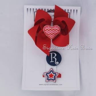 Red Star and Heart Bow Trio