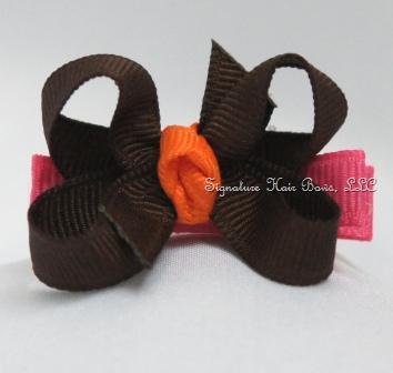 Fall Twist Baby Hair Bow