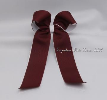 School Uniform Bow with Tails - Burgundy