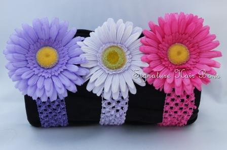 Crochet Headband With Daisy