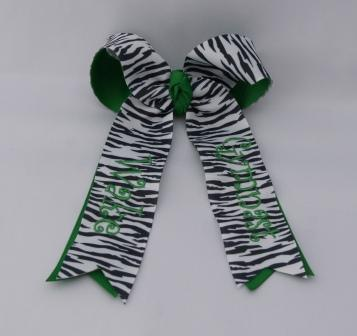 Wake Gymnast Monogrammed Zebra Bow