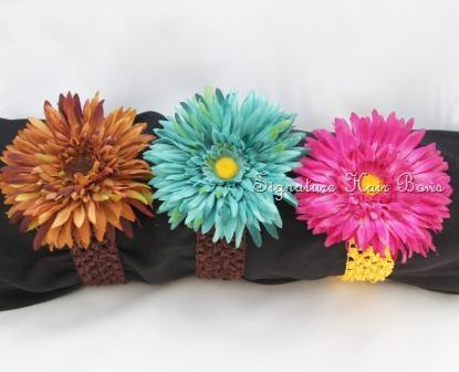 Crochet Headband with Big Flower