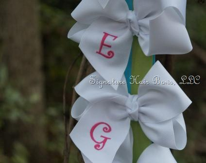 Southern Size Classic Monogrammed Bow